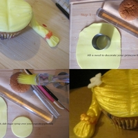 Girl's Princess Cupcake Tutorial I did try to post more clear pic on tutorial galleries;but that was just so complicated to me how to download my file and all photos ,so I...