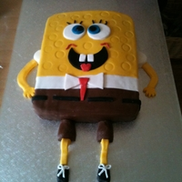 Squarebob Cake made for friends sons birthday