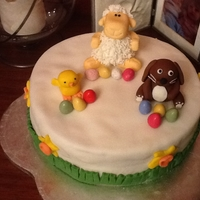 Easter Cake My first Easter Cake.. The sheep is my favourite !