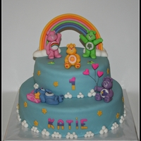 Care Bears A birthday cake for a 1 year old girl