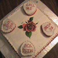 All Buttercream W Edible Rose Print *All buttercream w/ edible rose print