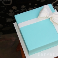 Tiffany Box Cake A Tiffany Box cake - pre birthday message, for a 21st birthday!
