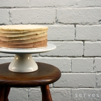 Cappuccino Ombre Cappuccino Ombre spiral iced buttercream deliciousness. This is super easy if you've got a lazy susan or turning cake stand.