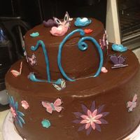 I Made This Cake For One Of My Daughters 10Th Birthday She Wanted Butterflies Amp Flowers I Had Little Kids Help Put The Decorations On I made this cake for one of my daughters 10th birthday. She wanted butterflies & flowers. I had little kids help put the decorations on...