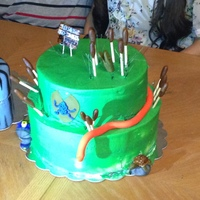 Made This Cake For My Sons Birthday It Had Cattails An Alligator 2 Poison Dart Frogs A Turtlea Lily Pad Rocks Amp A Snake Made this cake for my son's birthday. It had cattails, an alligator, 2 poison dart frogs, a turtle,a lily pad, rocks, & a snake.
