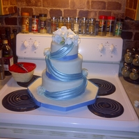Wedding 1st wedding cake :D