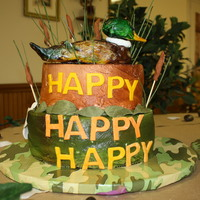 Duck Dynasty Grooms Cake Happy Happy Happy Duck Dynasty Grooms Cake Bottom Cake Is Camo In The Inside And Top Is Carrot Duck And All Deta Duck Dynasty Grooms CakeHappy Happy Happy Duck Dynasty grooms cake.Bottom cake is camo in the inside and top is carrot.Duck and all details...