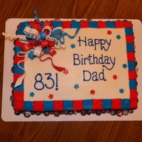 Fourth Of July Birthday Cake