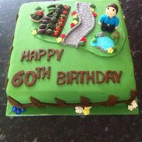 A 60Th Birthday Cake (Hobby Baker) *Feeling Brave today and finally sharing a few pics of my Hobby, Baking Cakes.