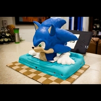 Sonic Nintendo 3Ds Cake - Cake Outside The Box Sonic coming out of the nintendo 3Ds
