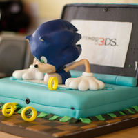 Mini Sonic Nintendo 3Ds Cake Small Version From Our Sonic 3D Cake Mini Sonic Nintendo 3DS Cake Small version from our sonic 3D cake,