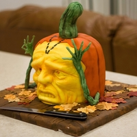 Halloween Cake - Cake Outside The Box Halloween Cake inspired by ray villafane and his amazing work with sculpting pumpkins. we put our little touch, hope you like it