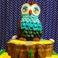 The Parents Believed That The Owl Is A Lucky Bird Hence Owl As The Cake Topper Credits To Zoes Fancy Cakes For The Idea As Presented By The parents believed that the owl is a lucky bird. Hence, owl as the cake topper. Credits to Zoe's fancy cakes for the idea as...
