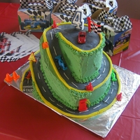 Up And Up Race Track This was the first carved cake I ever made and I was quite nervous. Must say I am proud of the way this one turned out