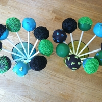 Cake Pops Color code green, blue and black