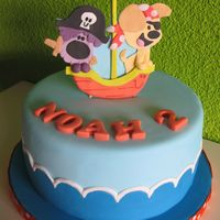 Woezel En Pip Pirate Cake Woezel en Pip are dutch cartoon dogs who are very popular with dutch kids. The pirate theme was for Noah.