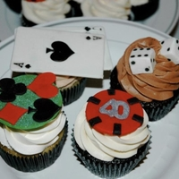 Casino Cupcakes Casino cupcakes for a 40th birthday party. Handmade fondant decorations.