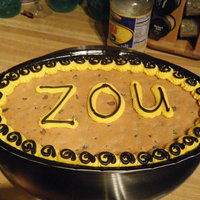 Mizzou Cookie Cake I did the decorating on this cookie for Missouri homecoming.