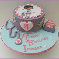 Doc Mcstuffins Birthday Cake   Birthday cake for a Doc Mcstuffins fan. Very pink and girly