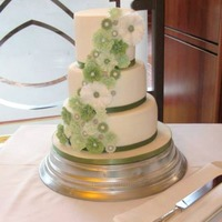 Ruffle Flowers Wedding Cake  This is the cake I made for my Sister's wedding last weekend. I was given free reign, providing it matched the green colour scheme! 3...