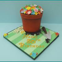 Flowerpot Cake   Absolutely loved making this and the customer couldn't believe it was a cake!