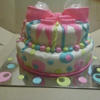 2 Tier Colorful Cake