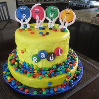 M&m's Cake Made by my mom and I.
