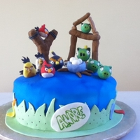 Angry Birds Angry Birds made with RKT covered in fondant.