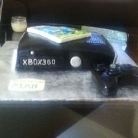 Xbox 360 Cake my mom and I made for a neighbor