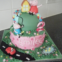 Peppa Pig Cake The adorable Peppa pig and George