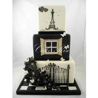 Parisian Themed Wedding Cake By Cake Rise Parisian themed Wedding Cake by Cake Rise