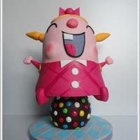 3D Tiffy, The Candy Crush Girl  3D Tiffy, the Candy Crush Girl Tiffy is made out of Sponge Cake and the Candyball is made of Chocolate Cake. For this cake I used Cake...