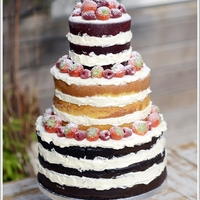 Naked Wedding Cake Naked Wedding Cake with fresh fruits
