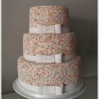 Sprinkle Wedding Cake Sprinkle Wedding Cake with Bows