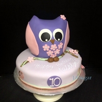 Owl Birthday Cake Inspired By Michelle Owl birthday cake. (Inspired by Michelle).