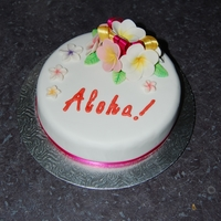 Frangipani Aloha Cake This is my FIRST ever cake, the frangipanis are all hand - made.