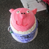 "Kate's ""we'll Miss You"" Cake I made this cake for my boss, Kate, when she retired from our local office. She grew up on a hog farm and loved showing hogs as a kid, so I..."