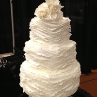 "Bridal Show I made this cake for my first bridal show event. I Love Maggie Austin""s cake designs, so this cake was inspired by her work. This was..."