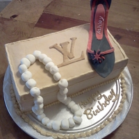Shoe Box Cake   shoe on a box birthday cake