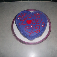 "Valentine's Cakes ""Sweetheart"" cake. Chocolate, 8"" single-layer, heart-shaped cake with ruffle edges."