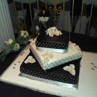 Black And White   Black and white wedding cake
