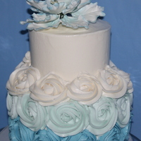 Blue Ombre Rosettes And Peony Blue ombre rosettes and peony