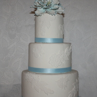 Blue Peony On Top And Lace