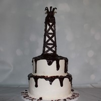 Strike It Rich Oil Rig Cake Oil Rig Made From Rtk And Modeling Chocolate Oil Made From Ganache Strike It Rich Oil Rig Cake. Oil rig made from RTK and modeling chocolate. Oil made from ganache