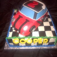 For A 2 Year Old Named Cooper No Other Cake Would Do But A Mini Cooper For a 2 year old named Cooper, no other cake would do but a Mini-Cooper!