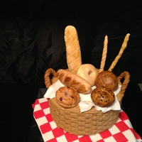 Made For A Client That Didnt Like Cake But Loves Bread His Wife Asked Me To Come Up With A Bread Theme And This Was The Result Made for a client that didn't like cake, but loves bread. His wife asked me to come up with a bread theme, and this was the result...