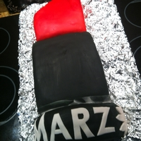 Marz Lipstick Fondant Cake I made this cake for my godmother's birthday because she is a make up artist. It was my first time using fondant and while it didn&#...