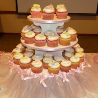 Baby Shower Cupcake Tower Baby shower cc's I made - all the toppers are made from fondant