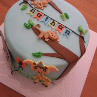 Sweet Jungle Animals Cake Let Me Know What If You Like It Or Not Sweet jungle animals cake. Let me know what if you like it or not.