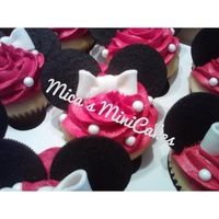 Minnie Mouse Themed Cupcakes Minnie Mouse themed cupcakes